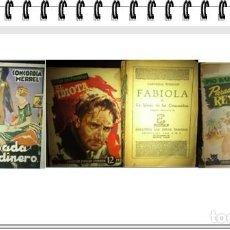 Libros de segunda mano: 4 NOVELAS ANTIGUAS;FABIOLA. EL IDIOTA.CASADA POR DINERO. PARADOX REY. Lote 217993040