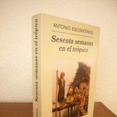 Libros de segunda mano: ANTONIO ESCOHOTADO: SESENTA SEMANAS EN EL TRÓPICO (ANAGRAMA, 2003) MUY RARO. Lote 218381867