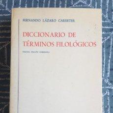 Libri di seconda mano: BIBLI. ROMANICA HISPANICA / GREDOS - DICCIONARIO DE TERMINOS FILOSOFICOS - F. LAZARO CARRETER. Lote 218763532