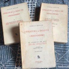 Libros de segunda mano: BIBLI. ROMANICA HISPANICA / GREDOS - 3 TOMOS LITERATURA DEL SIGLO XX Y CRISTIANISMO - C. MOELLER. Lote 218766932