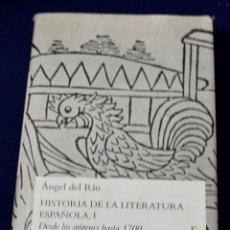 Libros de segunda mano: HISTORIA DE LA LITERATURA ESPAÑOLA I: 1 (VARIOS GREDOS) - RÍO, ÁNGEL DEL. Lote 219437353