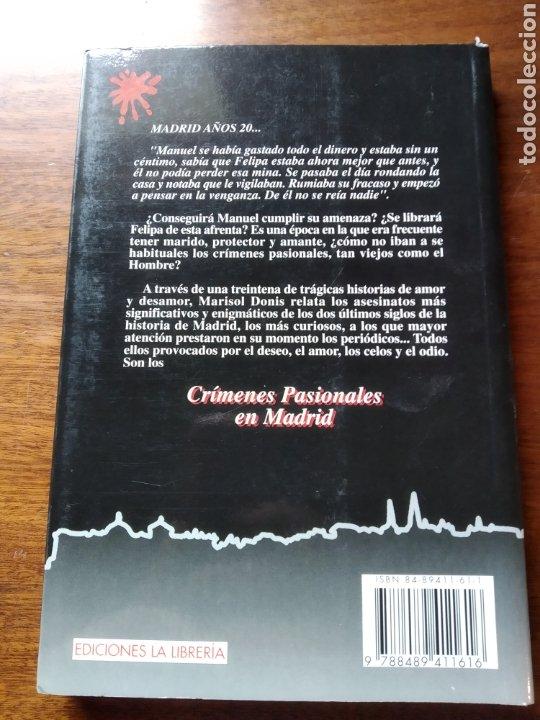 Libros de segunda mano: Crímenes pasionales de Madrid. Marisol Donis. - Foto 2 - 221769487