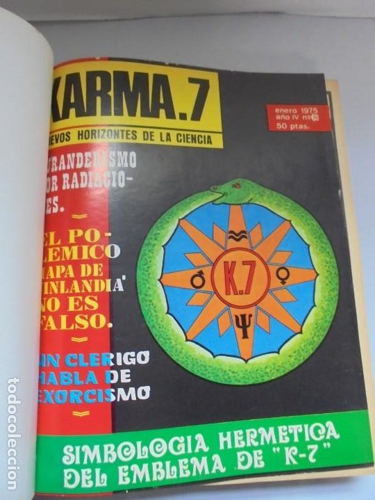 Libros de segunda mano: KARMA 7. NUEVOS HORIZONTES DE LA CIENCIA. Nº 26 AL Nº 37. 1975. DE ENERO A DICIEMBRE. - Foto 8 - 221956030
