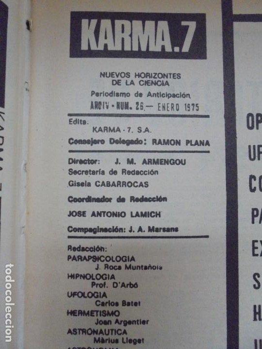 Libros de segunda mano: KARMA 7. NUEVOS HORIZONTES DE LA CIENCIA. Nº 26 AL Nº 37. 1975. DE ENERO A DICIEMBRE. - Foto 10 - 221956030