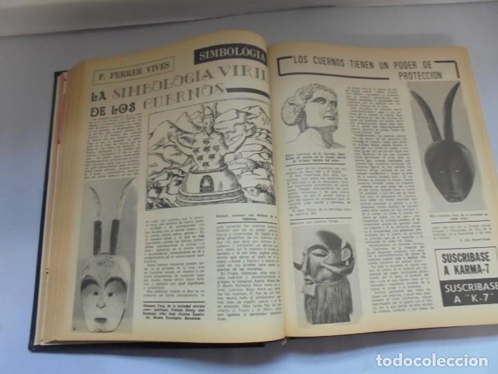 Libros de segunda mano: KARMA 7. NUEVOS HORIZONTES DE LA CIENCIA. Nº 26 AL Nº 37. 1975. DE ENERO A DICIEMBRE. - Foto 15 - 221956030