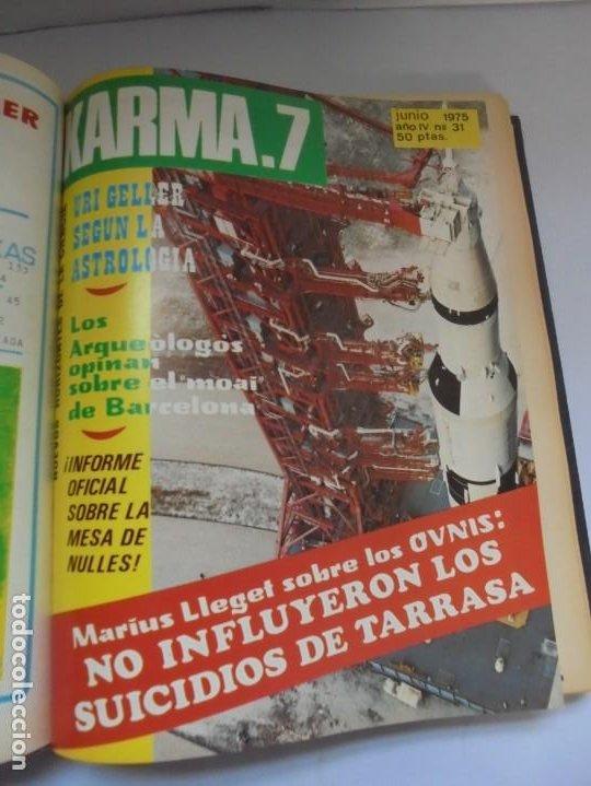 Libros de segunda mano: KARMA 7. NUEVOS HORIZONTES DE LA CIENCIA. Nº 26 AL Nº 37. 1975. DE ENERO A DICIEMBRE. - Foto 16 - 221956030