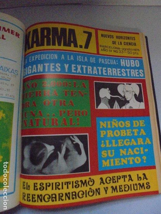 Libros de segunda mano: KARMA 7. NUEVOS HORIZONTES DE LA CIENCIA. Nº 26 AL Nº 37. 1975. DE ENERO A DICIEMBRE. - Foto 19 - 221956030