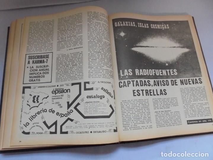 Libros de segunda mano: KARMA 7. NUEVOS HORIZONTES DE LA CIENCIA. Nº 26 AL Nº 37. 1975. DE ENERO A DICIEMBRE. - Foto 20 - 221956030