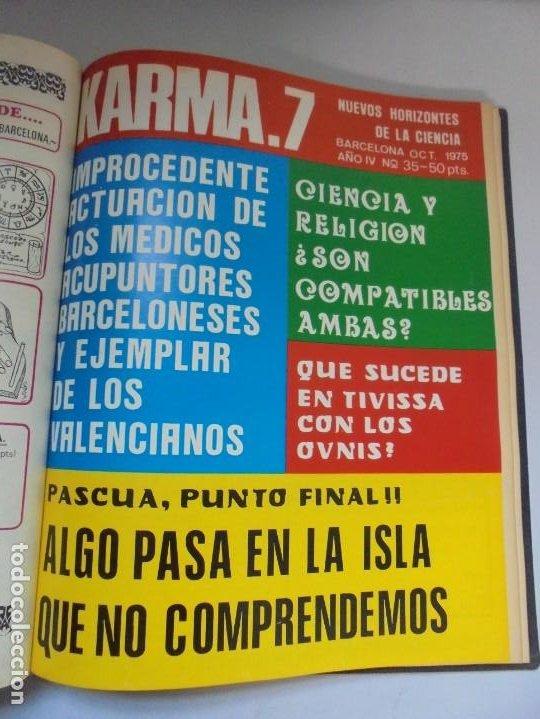Libros de segunda mano: KARMA 7. NUEVOS HORIZONTES DE LA CIENCIA. Nº 26 AL Nº 37. 1975. DE ENERO A DICIEMBRE. - Foto 21 - 221956030