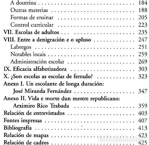 Libros de segunda mano: ESCOLANTES E ESCOLAS DE FERRADO. NARCISO DE GABRIEL. EDICIONS XERAIS DE GALICIA 2001. COMO NUEVO. - Foto 8 - 222165791