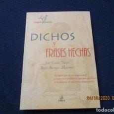 Libros de segunda mano: DICHOS Y FRASES HECHAS EDITORIAL LIBSA 1999 JOSÉ CALLES VALES Y BELÉN BERMEJO MELÉNDEZ. Lote 222195186