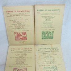 Libros de segunda mano: PAPELES DE SON ARMADANS - AÑO VII - 1962 - NUM. LXXI, LXXII, LXXIV, LXXVIII. Lote 222587505