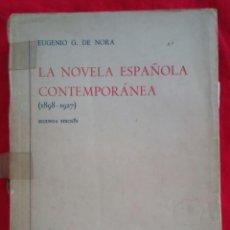 Libros de segunda mano: LA NOVELA ESPAÑOLA CONTEMPORÁNEA, TOMO I -1963~2ª ED. - EUGENIO G. DE NORA-ED. GREDOS,MADRID - PJRB. Lote 222837818