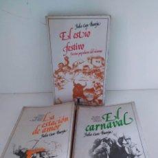 Libros de segunda mano: EL CARNAVAL, LA ESTACIÓN DEL AMOR Y EL ESTÍO FESTIVO. JULIO CARO BAROJA. Lote 223679150
