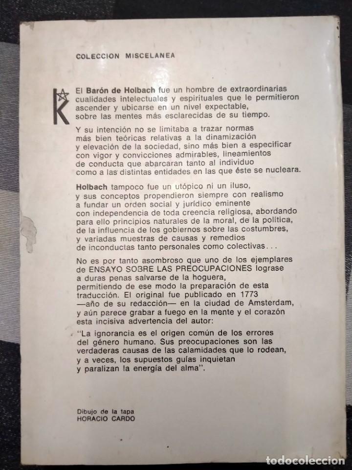 Libros de segunda mano: ENSAYO SOBRE LAS PREOCUPACIONES - BARÓN DE HOLBACH . ED KIER - BUENOS AIRES - 1979 - Foto 3 - 225072778