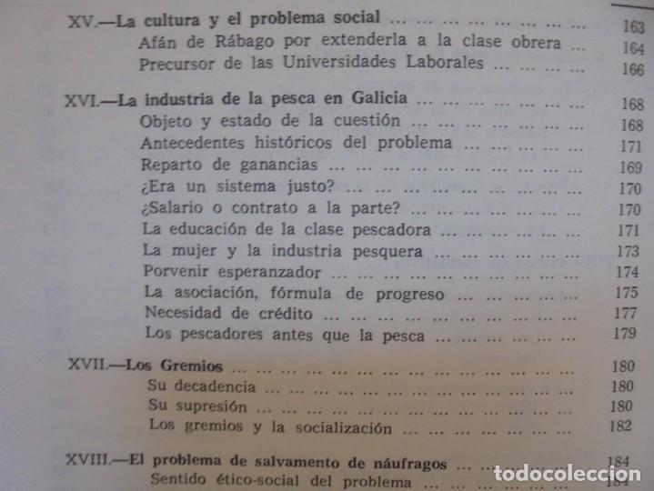 Libros de segunda mano: UN EMINENTE SOCIOLOGO GALLEGO. JOAQUIN DIAZ DE RABAGO. DEDICADO POR EL AUTOR. 1979. - Foto 23 - 225580372