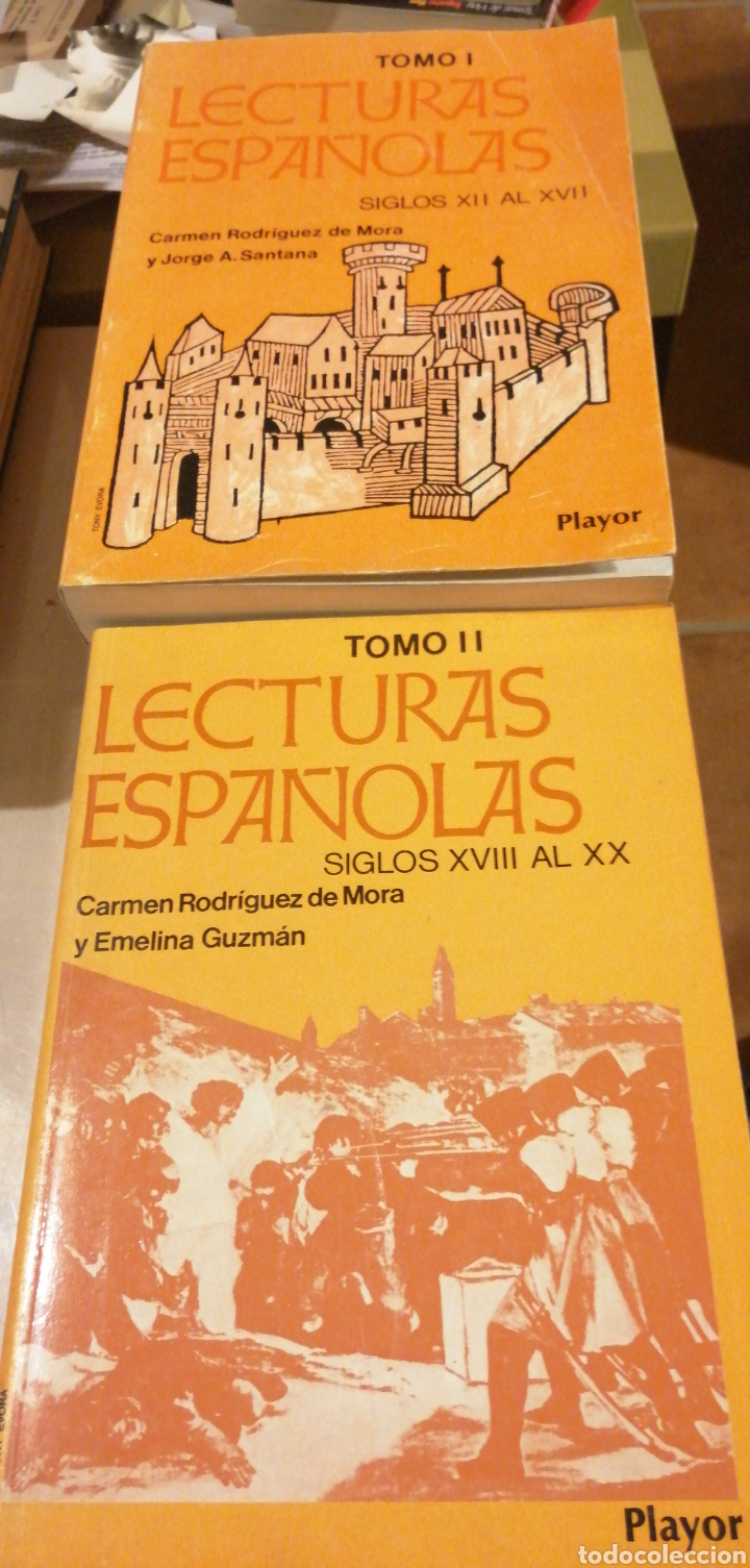 LECTURAS ESPAÑOLAS. TOMO I Y II (OBRA COMPLETA) CARMEN RODRIGUEZ DE MORA. JORGE A. SANTANA. EDITORI (Libros de Segunda Mano (posteriores a 1936) - Literatura - Ensayo)