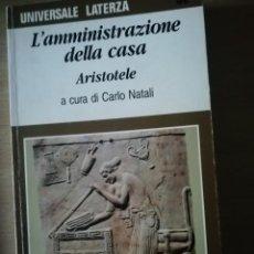 Libros de segunda mano: L'AMMINISTRAZIONE DELLA CASA DE ARISTOTELE EN ITALIANO. Lote 227228635