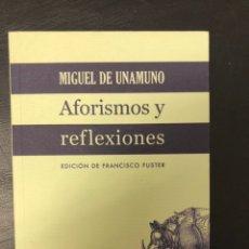Libros de segunda mano: MIGUEL DE UNAMUNO - AFORISMOS Y REFLEXIONES. Lote 229043515