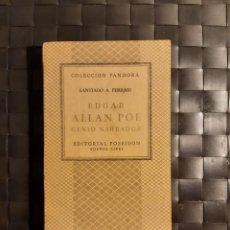 Libros de segunda mano: EDGAR ALLAN POE GENIO CREADOR. Lote 231892945