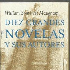 Libros de segunda mano: WILLIAM SOMERSET MAUGHAM. DIEZ GRANDES NOVELAS Y SUS AUTORES. TUSQUETS MARGINALES. Lote 269735438
