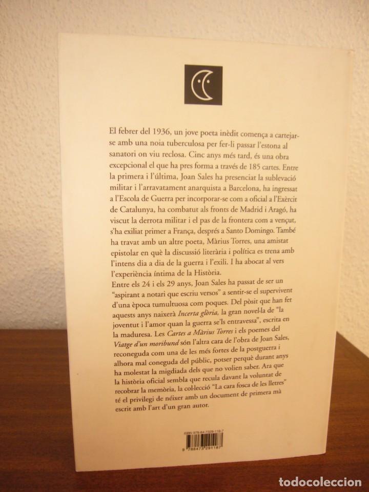 Libros de segunda mano: JOAN SALES: CARTES A MÀRIUS TORRES (CLUB EDITOR, 2007) MOLT BON ESTAT - Foto 3 - 234929200