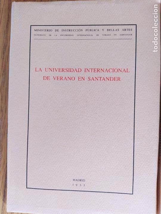 Libros de segunda mano: 2 Ediciones de la Universidad de verano de Santander. Una limitada a 50 ejemplares. Facsimiles. - Foto 3 - 235879320