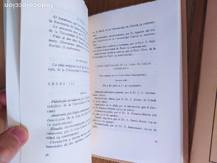 Libros de segunda mano: 2 Ediciones de la Universidad de verano de Santander. Una limitada a 50 ejemplares. Facsimiles. - Foto 7 - 235879320