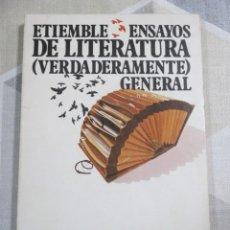 Libros de segunda mano: R. ETIEMBLE, ENSAYOS DE LITERATURA (VERDADERAMENTE) GENERAL, TAURUS. LITERATURA COMPARADA. Lote 236151530
