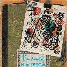 Libros de segunda mano: DE LO ESPIRITUAL EN EL ARTE, V. KANDINSKY. Lote 236637670