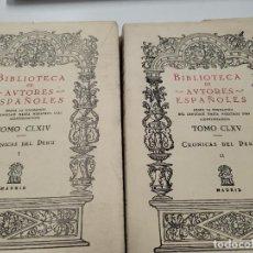 Libros de segunda mano: CRÓNICAS DE PERÚ TOMOS I Y II - DIEGO FERNÁNDEZ - BIBLIOTECA DE AUTORES ESPAÑOLES. Lote 236692625