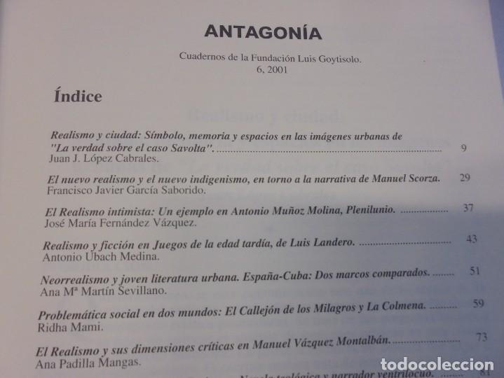 Libros de segunda mano: ANTAGONIA. CUADERNOS DE LA FUNDACION LUIS GOYTISOLO Nº 2-3-6. ACTAS NARRATIVA HISPANICA CONTEMPORANE - Foto 19 - 236810850