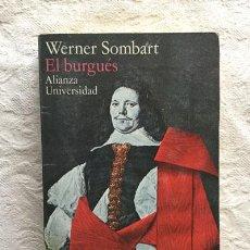 Libros de segunda mano: EL BURGUÉS - WERNER SOMBART. Lote 237398115