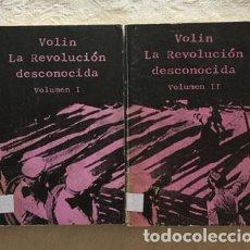 Libros de segunda mano: LA REVOLUCIÓN DESCONOCIDA (2 TOMOS) - VOLIN. Lote 237398480