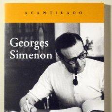Libros de segunda mano: SIMENON, GEORGES - GEORGES SIMENON - BARCELONA 2012. Lote 239433805