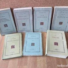 Libros de segunda mano: ¡¡OCASIÓN!! - LOTE 7 LIBROS FUNDACIÓ BERNAT METGE / ESCRIPTORS GREGS. Lote 239561445