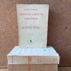 Libros de segunda mano: LITERATURA DEL SIGLO XX Y CRISTIANISMO - 5 TOMOS, COMPLETA - GREDOS - BIBLI. ROMANICA / HISPANICA. Lote 239592070
