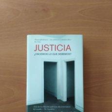 Libros de segunda mano: JUSTICIA. MICHAEL J. SANDEL. Lote 239796505