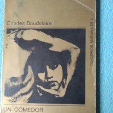 Libros de segunda mano: UN COMEDOR DE OPIO. Lote 241450295