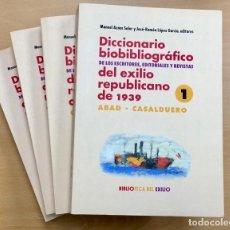 Libros de segunda mano: DICCIONARIO BIOBIBLIOGRÁFICO DE LOS ESCRITORES, EDITORIALES Y REVISTAS DEL EXILIO REPUBLICANO. 1939. Lote 243900815