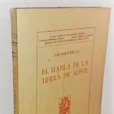 Libros de segunda mano: JOSE MARIA BAZ ... EL HABLA DE LA TIERRA DE ALISTE ... 1967. Lote 245971790