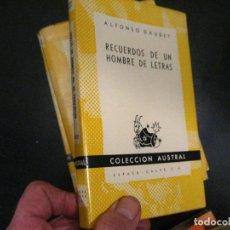 Libros de segunda mano: AUSTRAL 972 : DAUDET - RECUERDOS DE UN HOMBRE DE LETRAS BUEN ESTADO. Lote 246021090