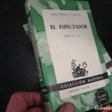 Libros de segunda mano: EL ESPECTADOR TOMOS VII Y VIII JOSE ORTEGA Y GASSET COLECCION AUSTRAL 1420 1966 ¡NUEVO!. Lote 246021345