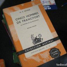 Libros de segunda mano: CINCO HOMBRES DE FRANCFORT, M. E. RAVAGE, AUSTRAL 489 HISTORIA DE LOS ROTHSCHID NUEVO !. Lote 246022200