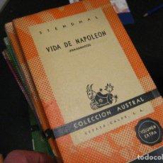 Libros de segunda mano: !VIDA DE NAPOLEÓN (FRAGMENTOS) STENDHAL (COLECCIÓN AUSTRAL, 1152 NUEVO!. Lote 246022245