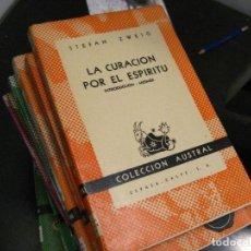 Libros de segunda mano: LA CURACION POR EL ESPIRITU. STEFAN ZWEIG. COL. AUSTRAL Nº 1149. ESPASA-CALPE 1952. NUEVO!. Lote 246022275