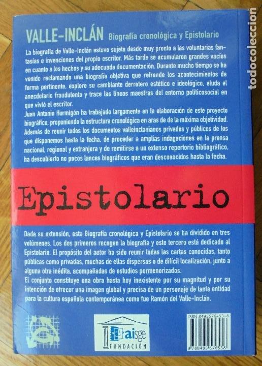 Libros de segunda mano: VALLE INCLAN. BIOGRAFIA CRONOLOGICA Y EPISTOLARIO - JUAN ANTONIO HORMIGON - Foto 2 - 248249445