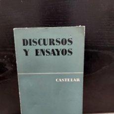 Libros de segunda mano: CASTELAR......DISCURSOS Y ENSAYOS.......1964...... Lote 249472165