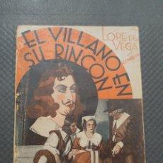 Libros de segunda mano: EL VILLANO EN SU RINCÓN - LOPE DE VEGA. Lote 251333415