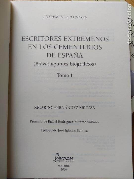 Libros de segunda mano: Escritores extremeños en los cementerios de España, Ricardo Hernandez, Ed. Beturia, 2004 - Foto 12 - 252425375